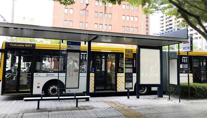 福岡のバスの写真