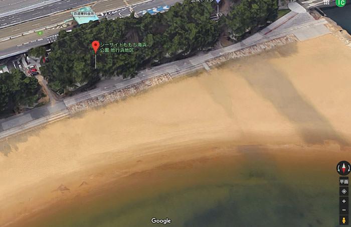 シーサイドももち海浜公園の地図(3G)