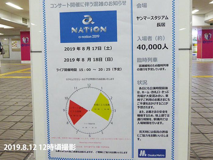 a-nation2019大阪の案内(大阪メトロ・長居駅)