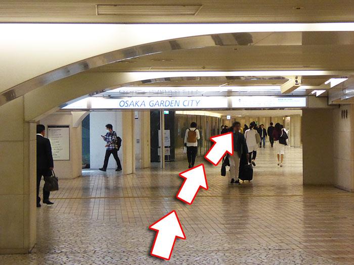 JR大阪駅からビルボードライブ大阪への行き方手順07