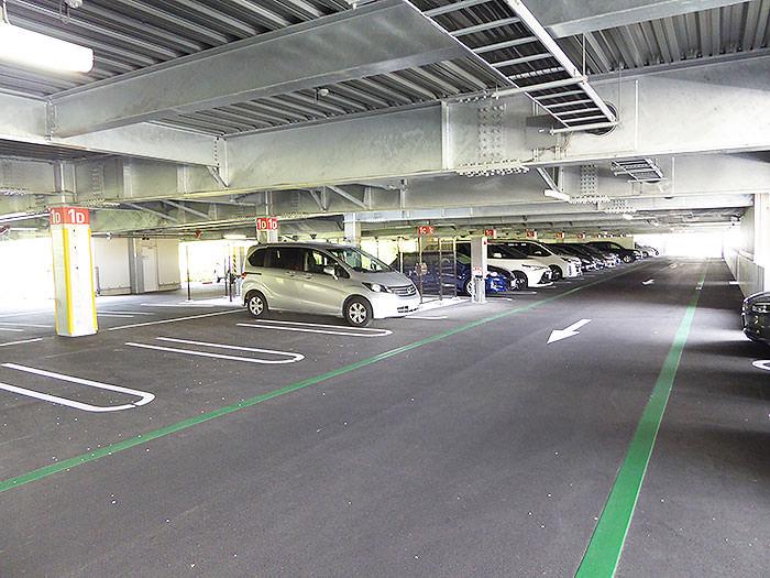 桜島第3駐車場の風景