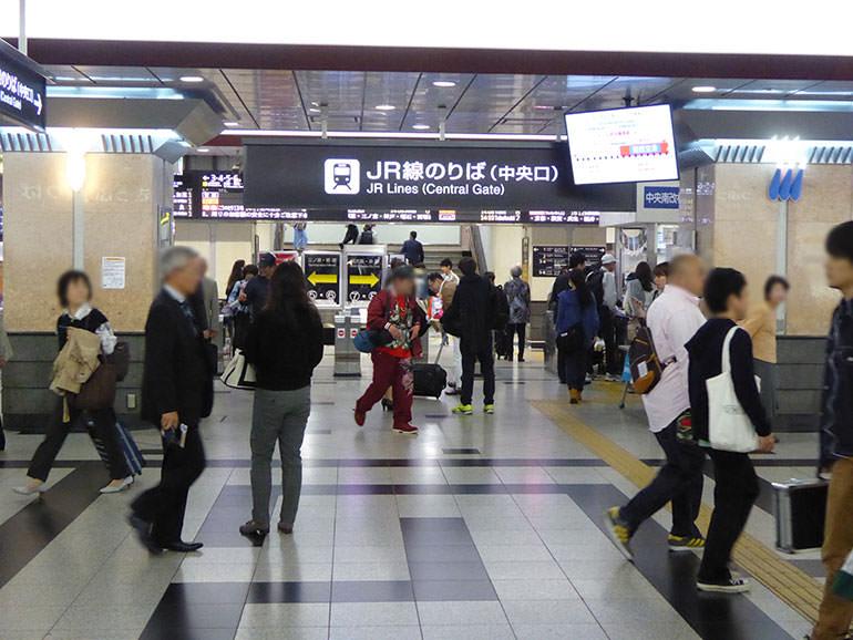 東梅田駅への行き方の手順02