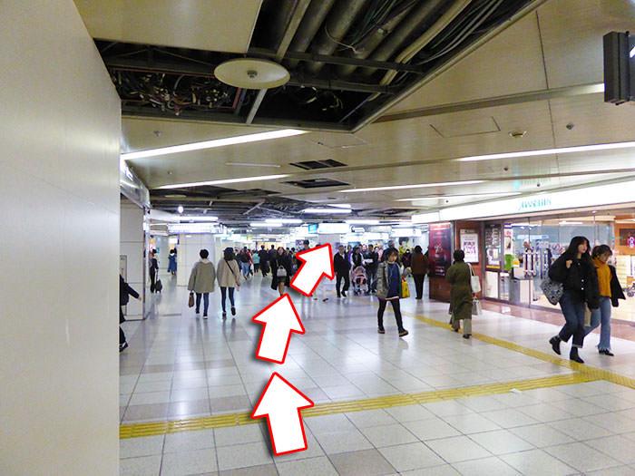 東梅田駅への行き方の手順09